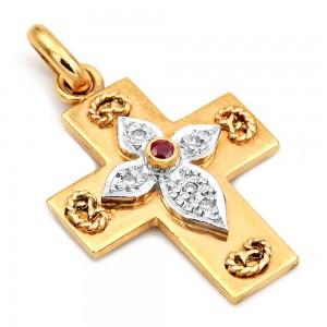 Σταυρός χρυσός Κ18