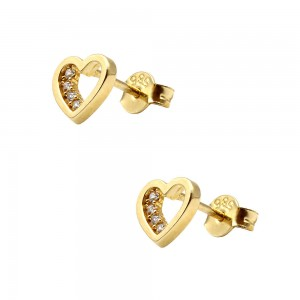 Earrings with zircon