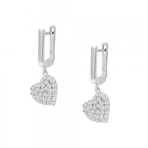 Σκουλαρίκια με καρδιά