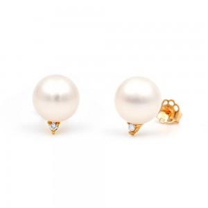 Σκουλαρίκια μαργαριτάρια διαμάντια