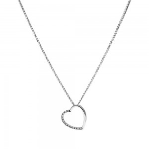 Heart necklace with zircon