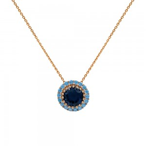 Necklace with rosette