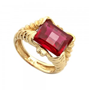 Δαχτυλίδι με κόκκινο Ζιρκόν
