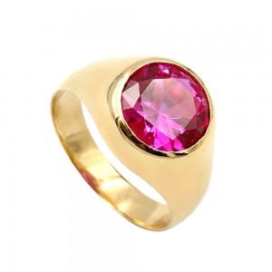 Δαχτυλίδι με ροζ Ζιρκόν