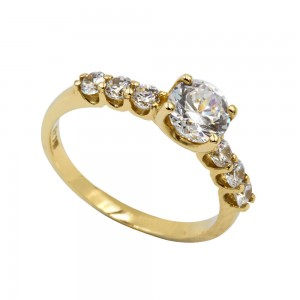 Zirconia Solitaire Ring