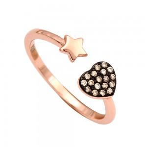 Δαχτυλίδι καρδιά αστέρι