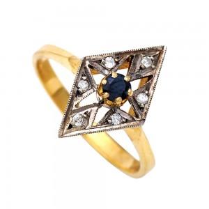 Δαχτυλίδι αντικέ Κ18