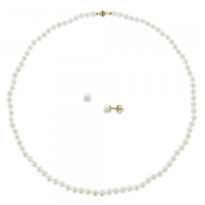 Set pearl necklace and earrings